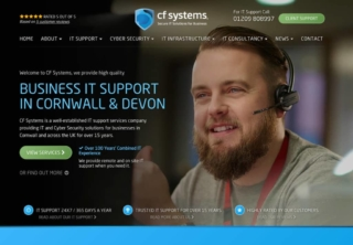 Website Design using existing branding for CF Systems in Redruth